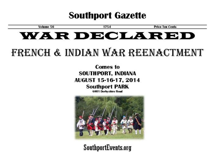 French  Indian War Reenactment flyer